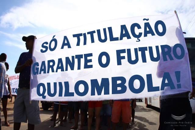 Manifestação dos quilombolas de Oriximiná em 2016. Foto: Carlos Penteado