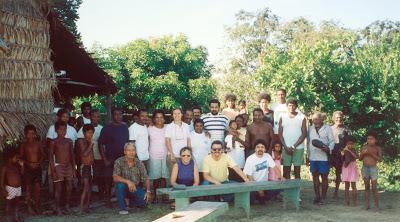 Visita do Incra e MPF no Alto Trombetas em 1994. Foto: Lúcia Andrade/CPI-SP